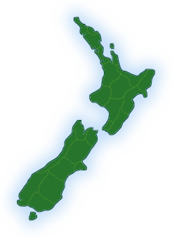 new zealand B and B map